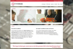 Screenshot CrossMinds Werbeagentur Hildesheim
